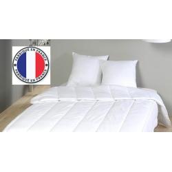 Lot de 5 oreillers blancs à mémoire de forme coton percale 800 gr 60 x 60 cm
