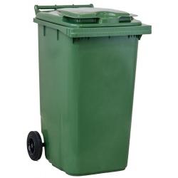 Bac roulant de collecte 100% recyclable 240 L corps vert couvercle vert
