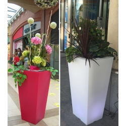 Double pot décoratif Colors® Stark 50 x 50 x H100 cm