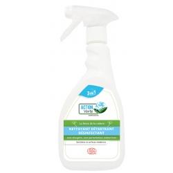 Lot de 12 flacons 500 ml de nettoyant désinfectant surfaces Ecocert Action Verte