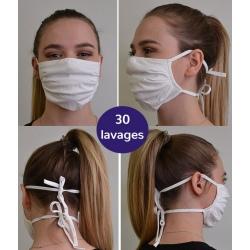 Lot de 100 masques en tissu avec lanière Catégorie 2