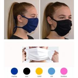 Lot de 100 masques en tissu coloré avec élastique Catégorie 2