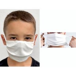 Lot de 100 masques en tissu avec élastiques pour enfant