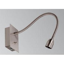 Applique liseuse apparente nickel brossé Flex 30 cm avec interrupteur