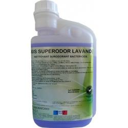 Lot de 12 flacons nettoyant bactéricide multisurfaces lavande Axis Superodor à diluer 1L