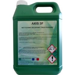 Nettoyant décapant alcalin alimentaire ultra puissant Axis 3F à diluer 5L