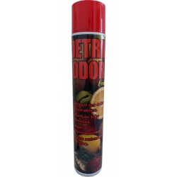 Lot de 6 aérosols désodorisant assainissant frutti Detril Odor 750 ml