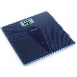 Pèse-personne électronique en verre bleu Naomi