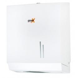Distributeur d'essuie-mains acier blanc 400 à 600 feuilles