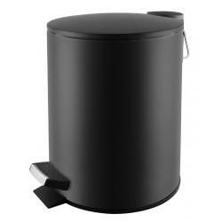 Poubelle à pédale Premium en inox noir mat 5 L