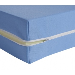 Housse de matelas ép 13 cm polyester M1 bleu 80x190 cm