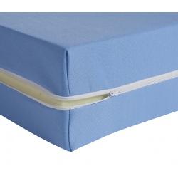 Housse de matelas ép 13 cm polyester M1 bleu 90x190 cm