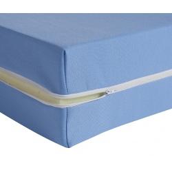 Housse de matelas ép 15 cm polyester M1 bleu 80x190 cm