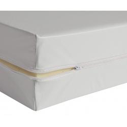 Housse de matelas blanche ép 13 cm polyuréthane M1 90x200 cm
