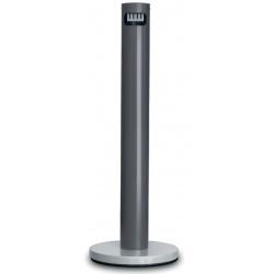 Cendrier colonne sur pied en aluminium gris foncé 5 L