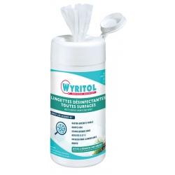 Lot de 12 boites de 120 lingettes désinfectantes toutes surfaces Wyritol
