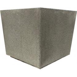 Jardinière en béton Iconic gris 63 x 63 x H64 cm