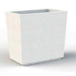 Jardinière en béton Iconic blanc ou ocre 100 x 60 x H93 cm