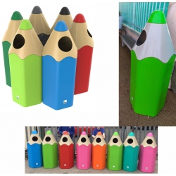 Corbeille Crayon polyéthylène 70 L