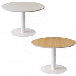 Table de réunion pied central 6 personnes ø 120 cm