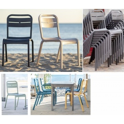 Lot de 18 chaises empialbles Cannes