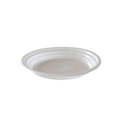 Sachet de 100 assiettes plastiques jetable ronde Ø 20,5 x H1,9 cm