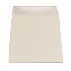 Abat-jour en textile blanc L19xH17 cm