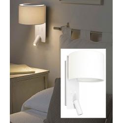 Lampe applique Fold blanche avec liseuse