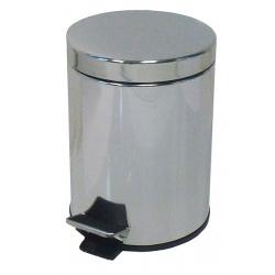 Lot de 6 poubelles  à pédale inox brillant 3 L
