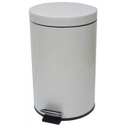 Lot de 2 poubelles à pédale métal coloris blanc 12 L