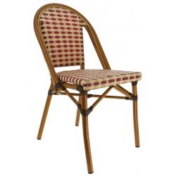 Chaise tressée Beaulieu structure bambou