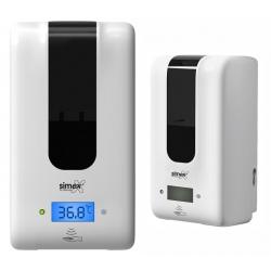 Distributeur de savon ou gel automatique 1,2L avec mesure de température