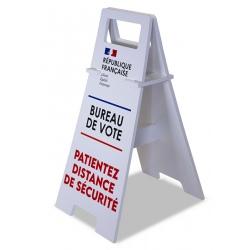 Chevalet panneau de sol spécial élections