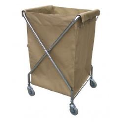 Chariot de collecte de linge avec sac en nylon 270 l l62,5 x p62 x h98,5 cm