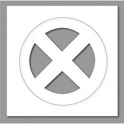 Pochoir interdiction arrêt 80x80 cm