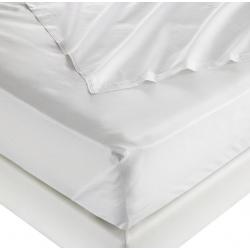 Drap plat 100% coton blanc 125 g 190x310 cm (le lot de 15)