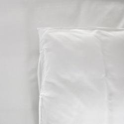 Drap plat Be Eco i-care polycoton 50/50 blanc avec liserets orange 130 g 235x320 cm (le lot de 15)