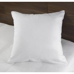Taie d'oreiller Tradition polycoton 74/26 blanc 130 g portefeuille avec rabat et volant piqué 65x65 cm (le lot de 10)
