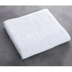 Serviette de toilette Olympe 100% coton blanc 550 g 50x100 cm (le lot de 10)