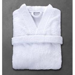 Peignoir Boucle 90% coton 10% polyester blanc 360 g col kimono taille M (le lot de 12)