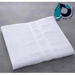 Drap de bain Luxe 100% coton blanc 400 g 70x140 cm (le lot de 5)