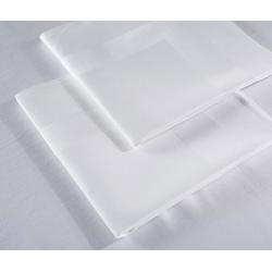 Serviette de table Satin 100% coton blanc 215 g 51x51 cm (le lot de 10)