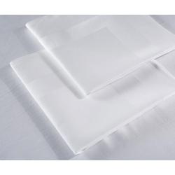 Serviette de table Satin 100% coton blanc 215 g 56x56 cm (le lot de 10)