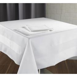 Nappe Satin 100% coton blanc 215 g 240x250 cm (le lot de 10)