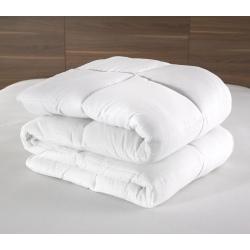 Couette Lotus 100% polyester blanc et fibres 400 g 160x220 cm (le lot de 9)