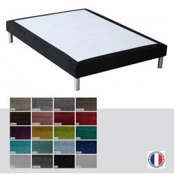 Sommier tapissier Luxe ép 14 cm finition velours 140x190 cm