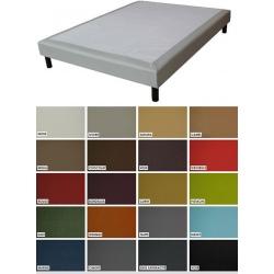 Sommier tapissier Luxe ép 26 cm finition similicuir 100x190 cm