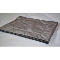 Plaid déco tissu Elvis ardoise 60x150 cm (le lot de 4)