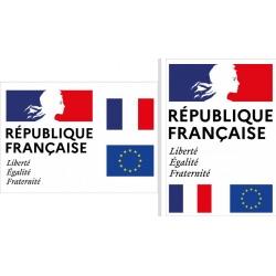 """Plaque de façade """"Liberté Egalité Fraternité"""" A0 (84,1 x 118,9 cm) Modèle Classique"""
