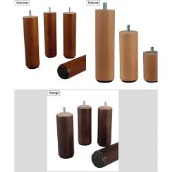 Pieds bois H 20 cm pour sommiers (le lot de 2)